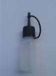 200 - 750 x  puffer bottles with black lid  Ideal for craft / cosmetics / hobby / many uses! WHOLESALE / TRADE